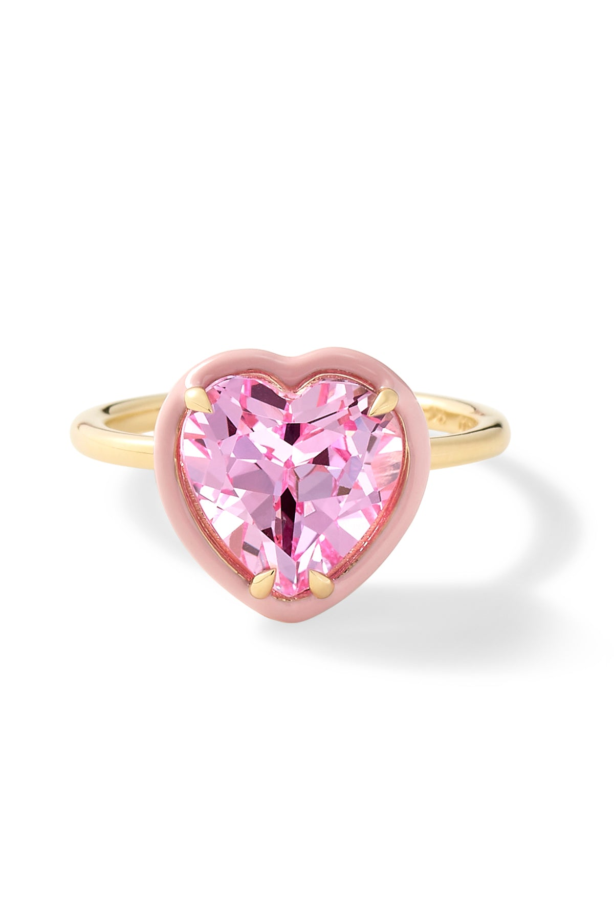 Heart-Shaped Pink Sapphire Cocktail Ring
