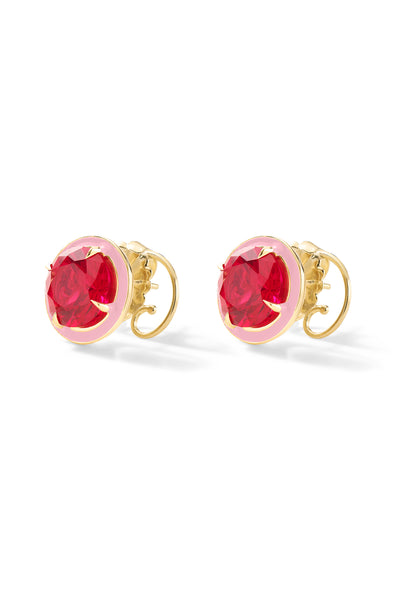 Two-Tone Round Cocktail Studs - In Stock