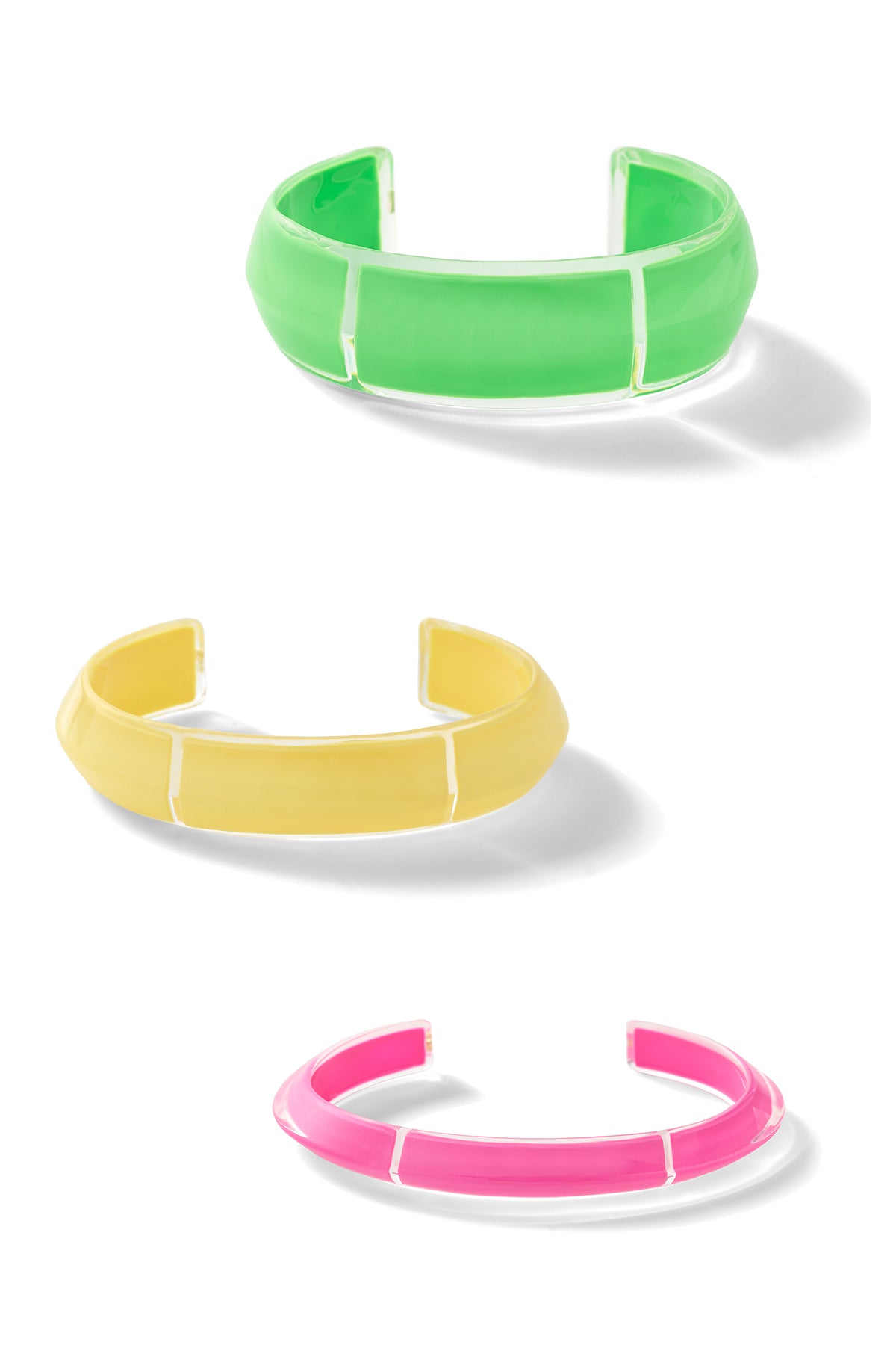 Neon Jelly Cuff Set