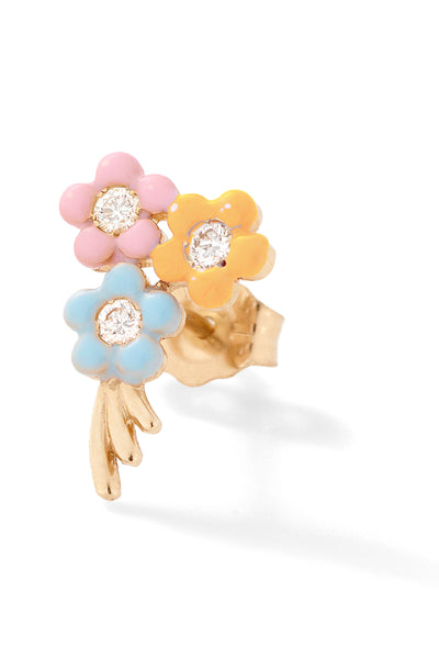 Bouquet of Flowers Stud - Color Options
