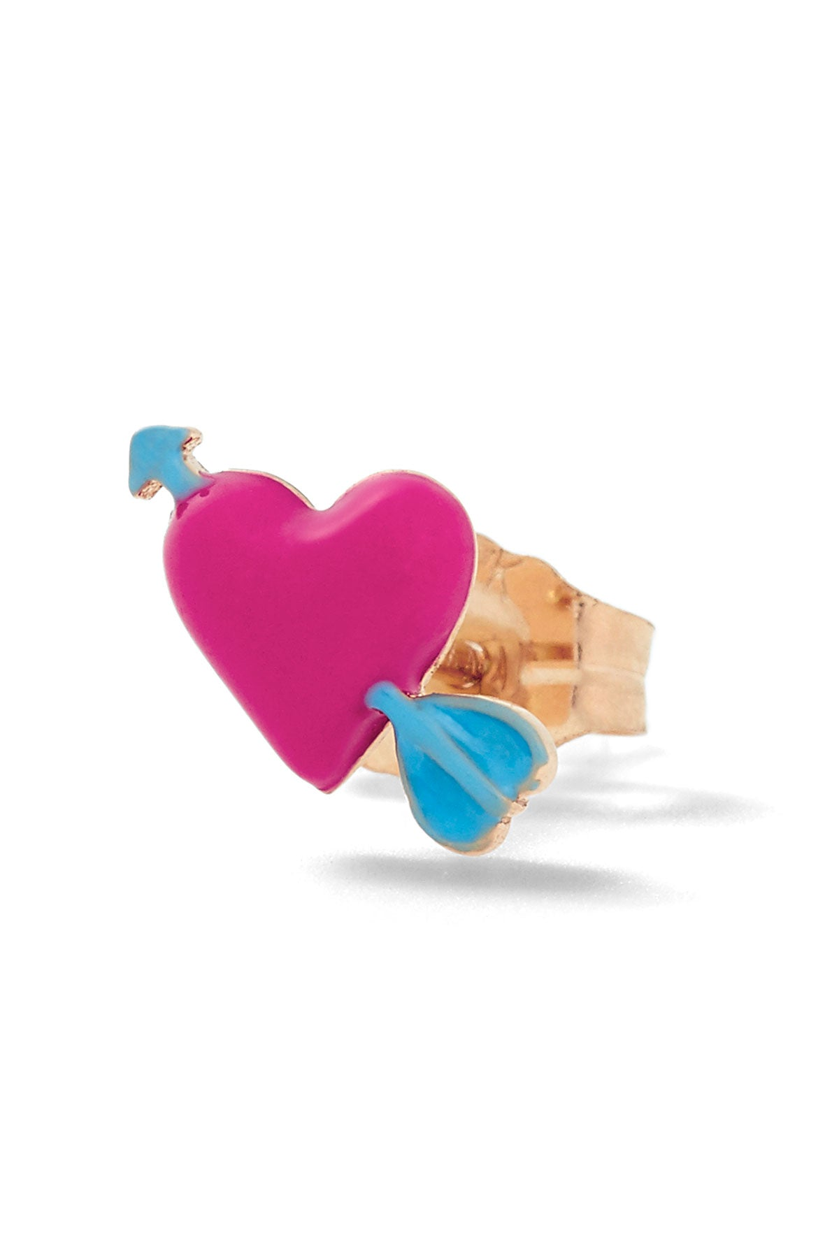 Heart with Arrow Stud