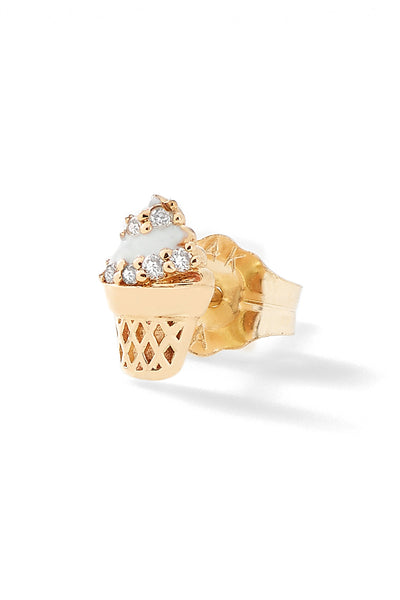 Ice Cream Cone Stud