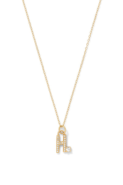 Australian Diamond Pavé Letter Necklace