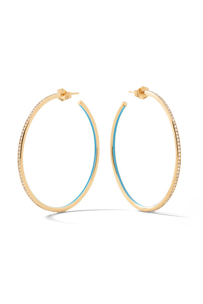 Medium Linear Hoops - In Stock