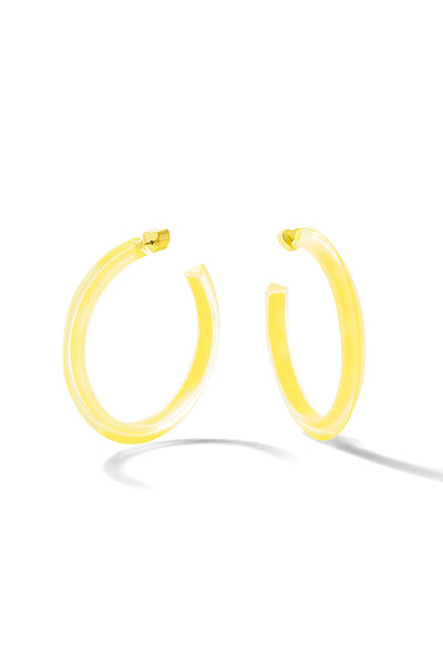 Neon Medium Jelly Hoops
