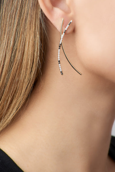 Large Diamond Spaghetti Earrings