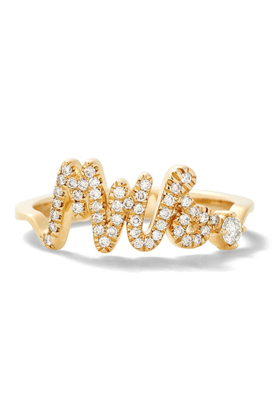 Australian Diamond Pavé Mrs. Ring