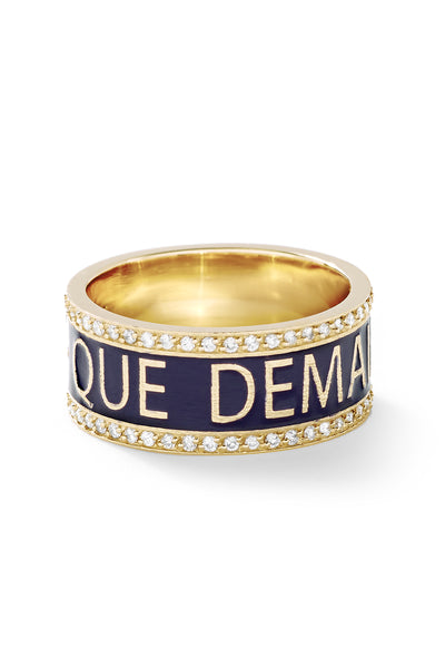 Diamond + Qu'Hier - Que Demain Ring - In Stock