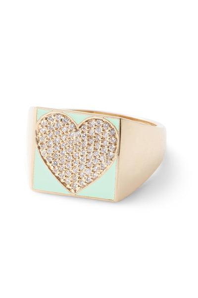 SuperLou Diamond Heart Ring