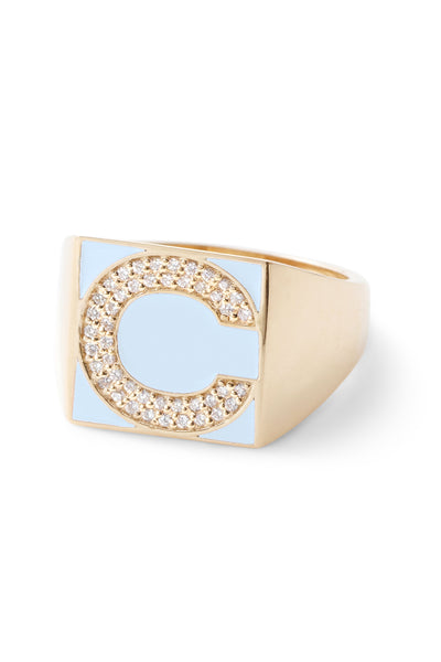 SuperLou Diamond Letter Ring