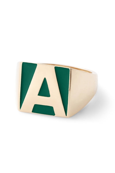 SuperLou Enamel Letter Ring