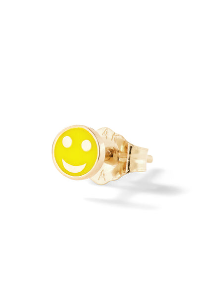 Tiny Happy Face Stud