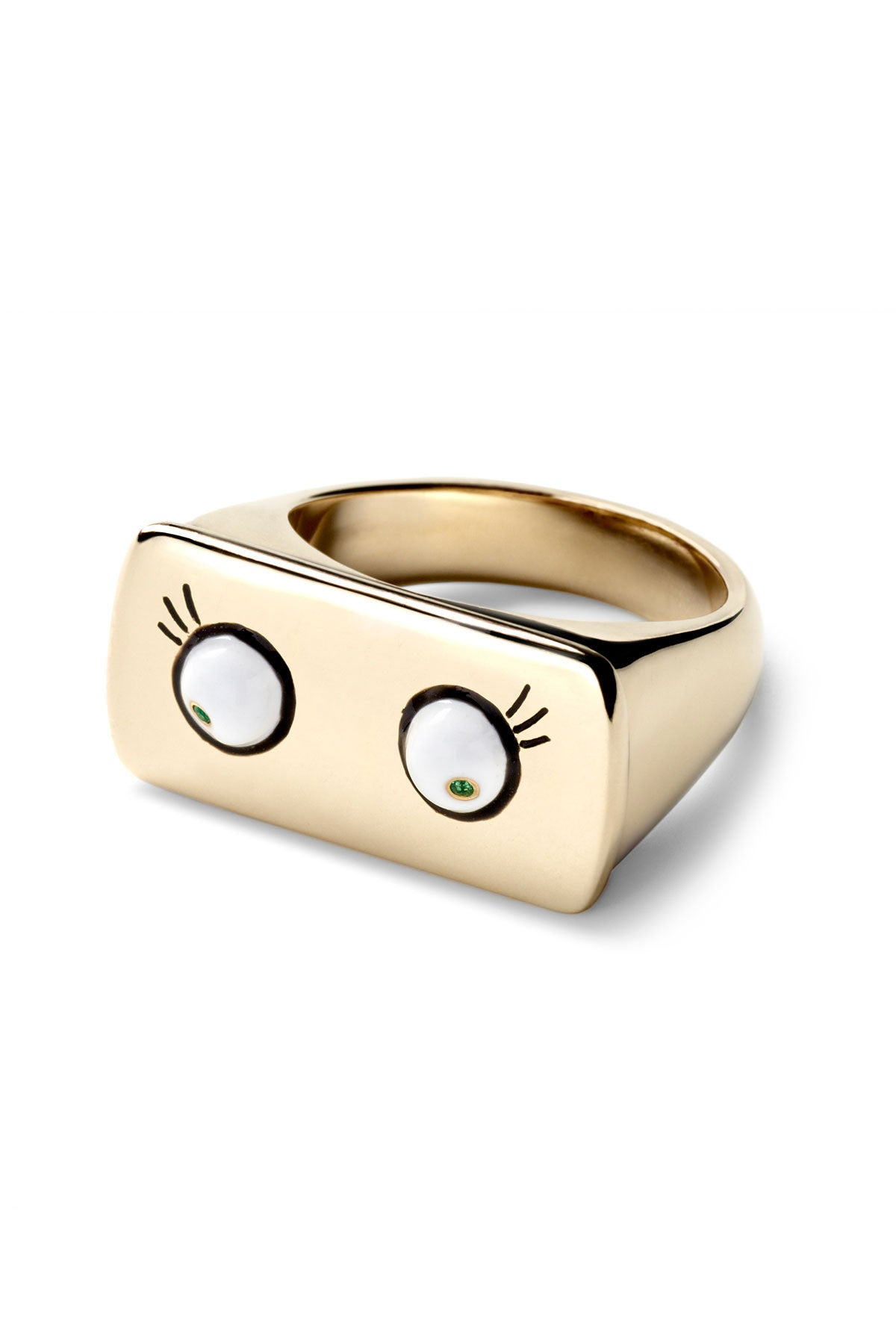 White Eyes Bar Ring