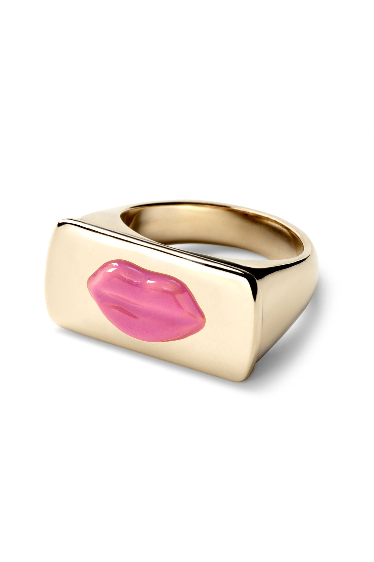 Enamel Lip Bar Ring