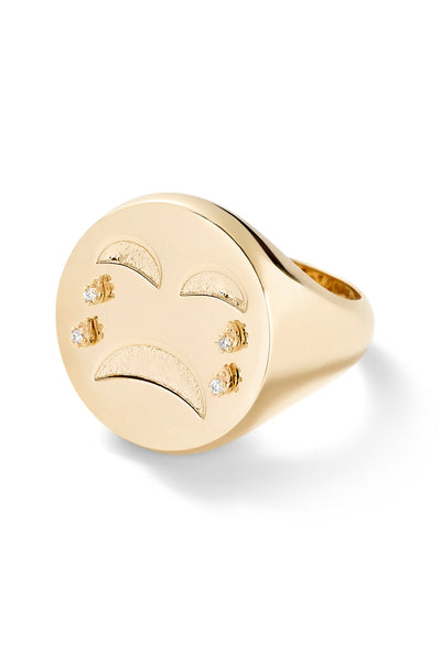 Cry Baby Signet Ring