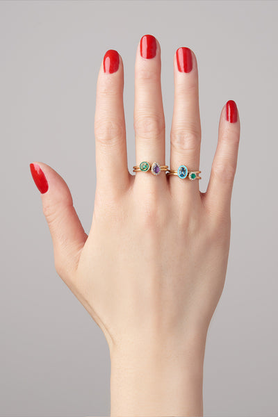 """E"" Enamel Stack - Round Ring"