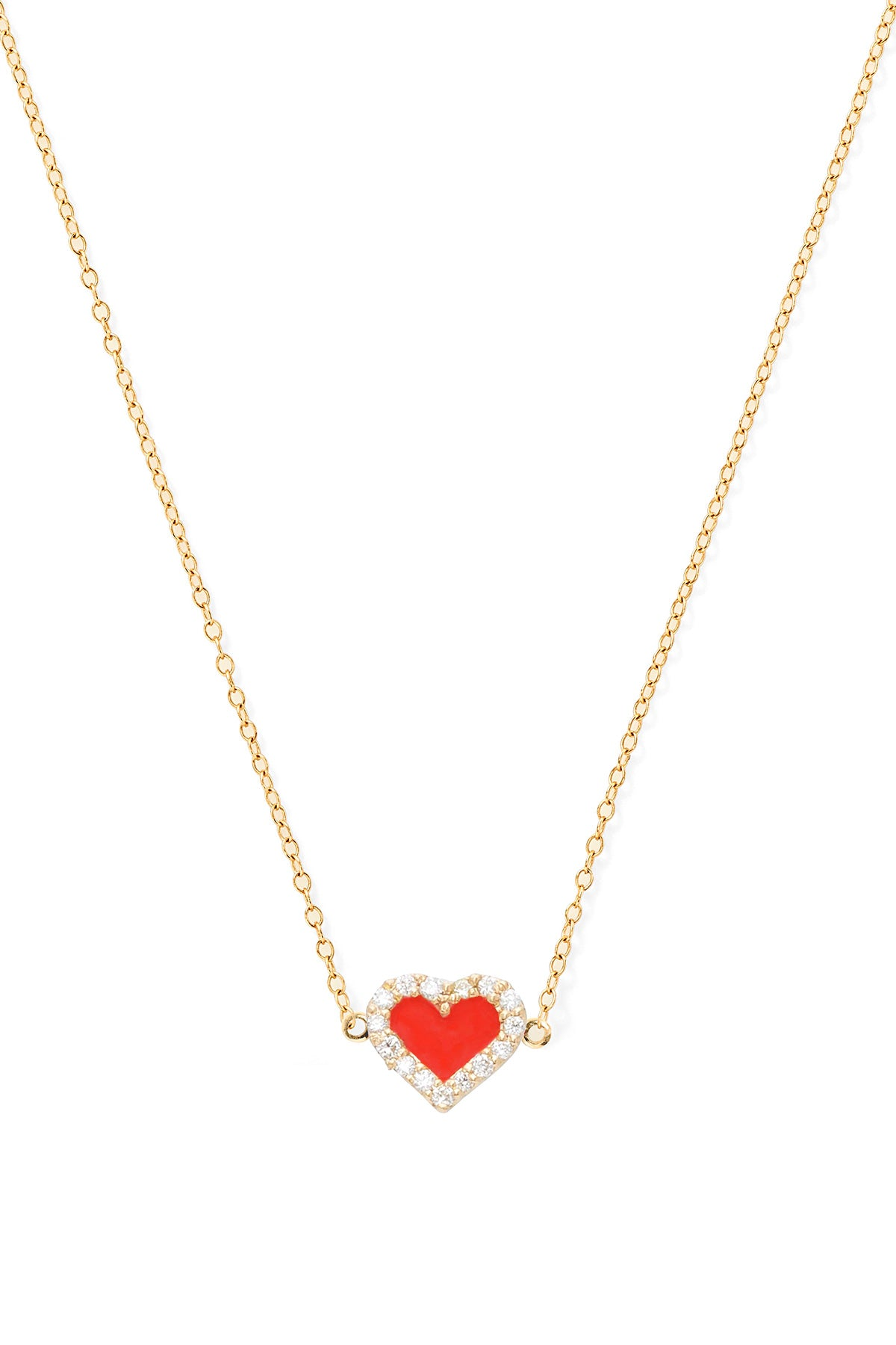 Heart Diamond Necklace - In Stock