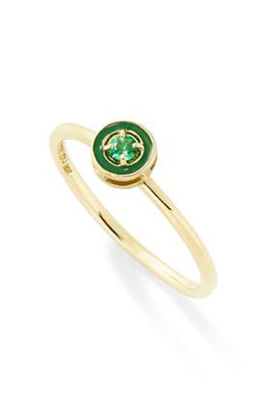 """E"" Enamel Stack - Round Ring - In Stock"