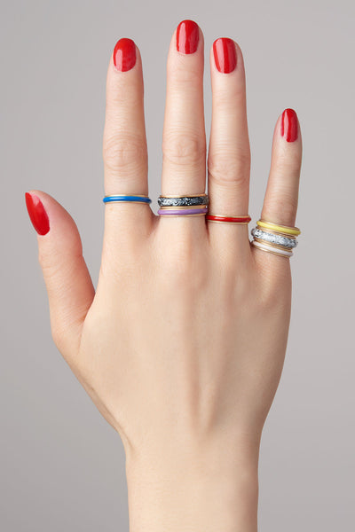Small Enamel Bands