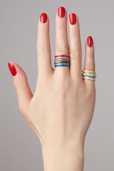 Medium Enamel Bands
