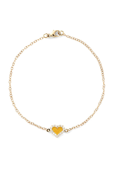Heart Diamond Bracelet - Color Options