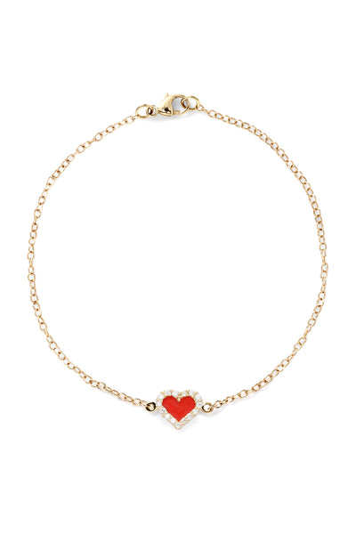 Heart Diamond Bracelet - In Stock