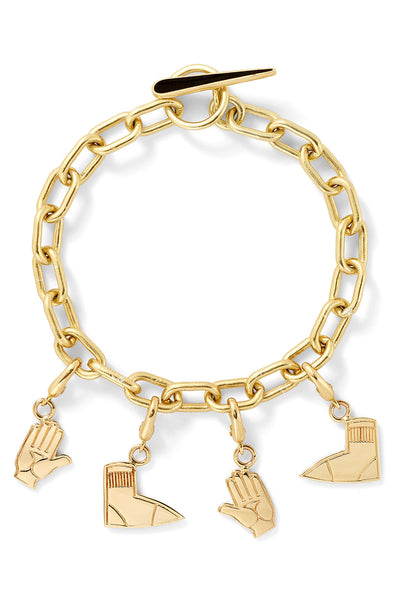 Twister Left Foot / Right Hand Charm Bracelet