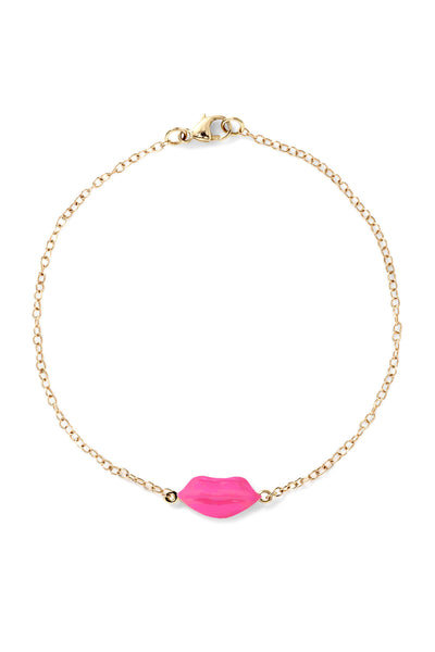 Enamel Lip Bracelet - In Stock