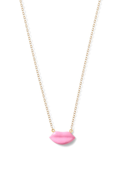 Enamel Lip Necklace
