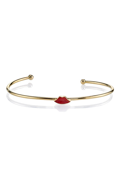 MPH Wire Bangle with Puckered Lips