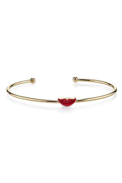 MPH Wire Bangle with Closed Smile