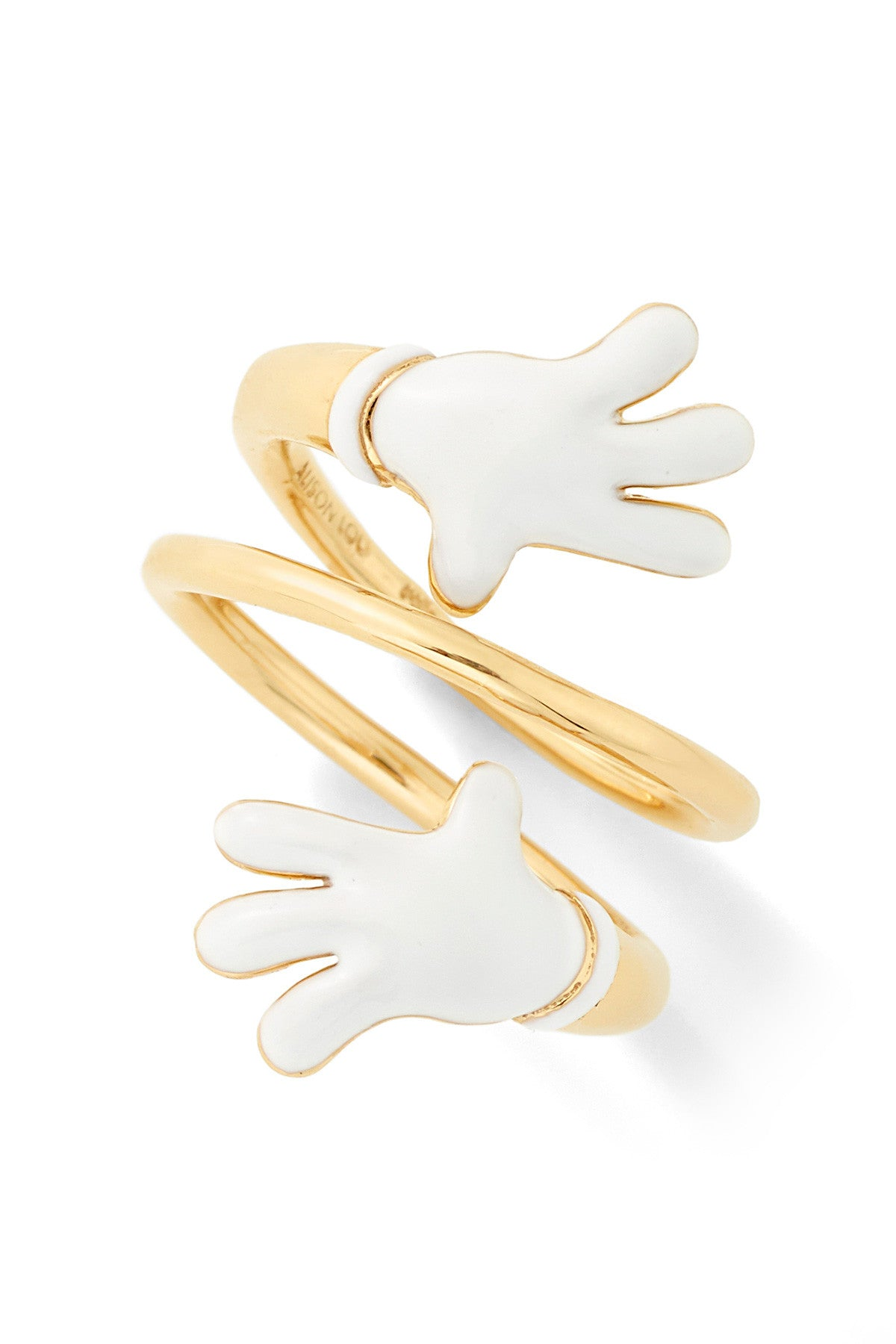 MPH Enamel Hands Bypass Ring