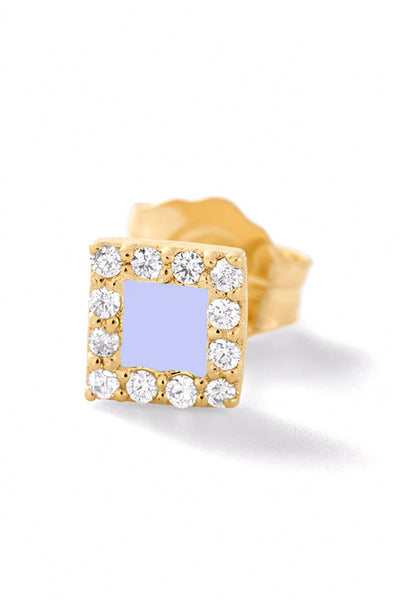 Square Diamond Stud