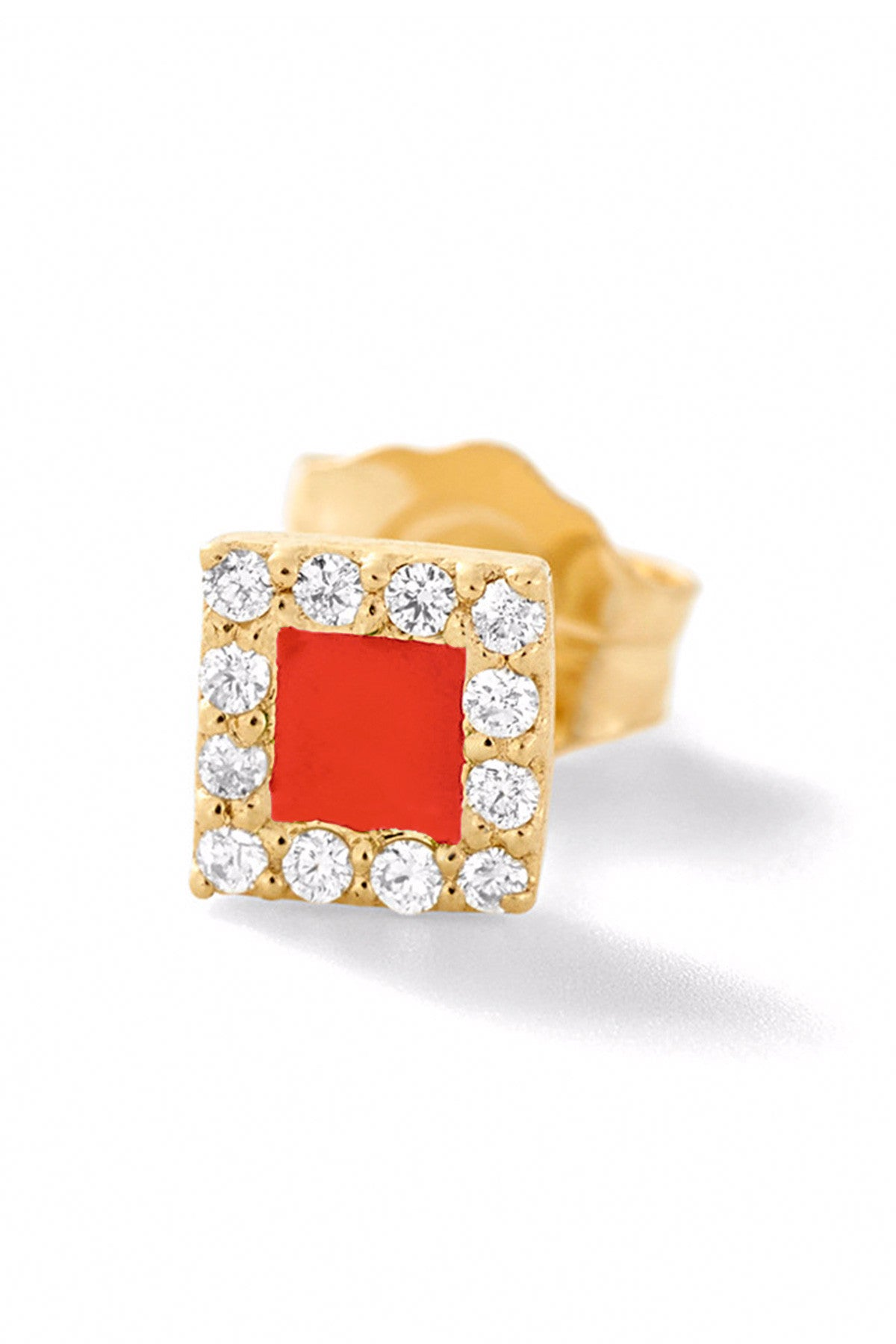 in gold tomfoolery white metier m stud by star tier diamond square