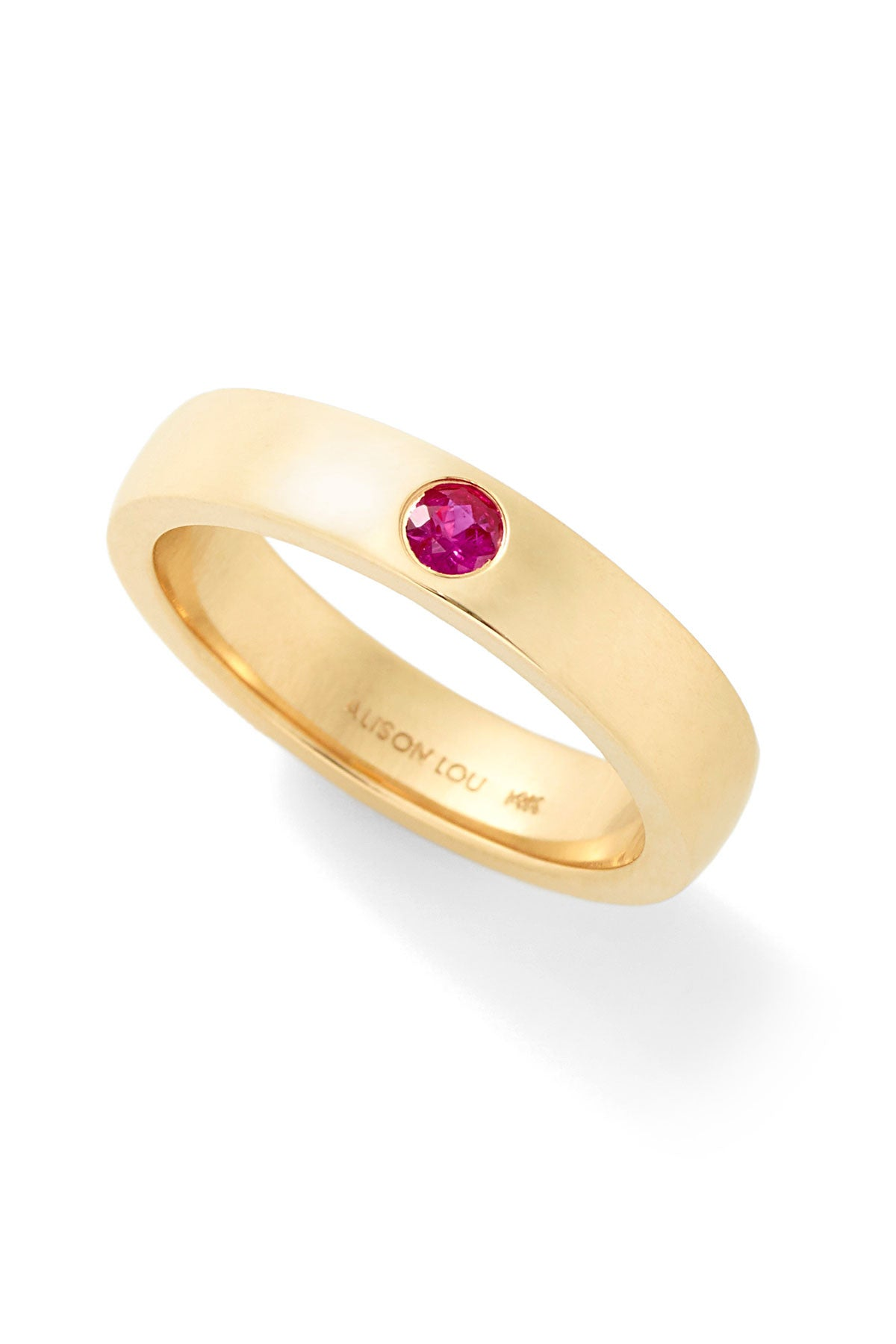 Twister Ruby Solitaire Band