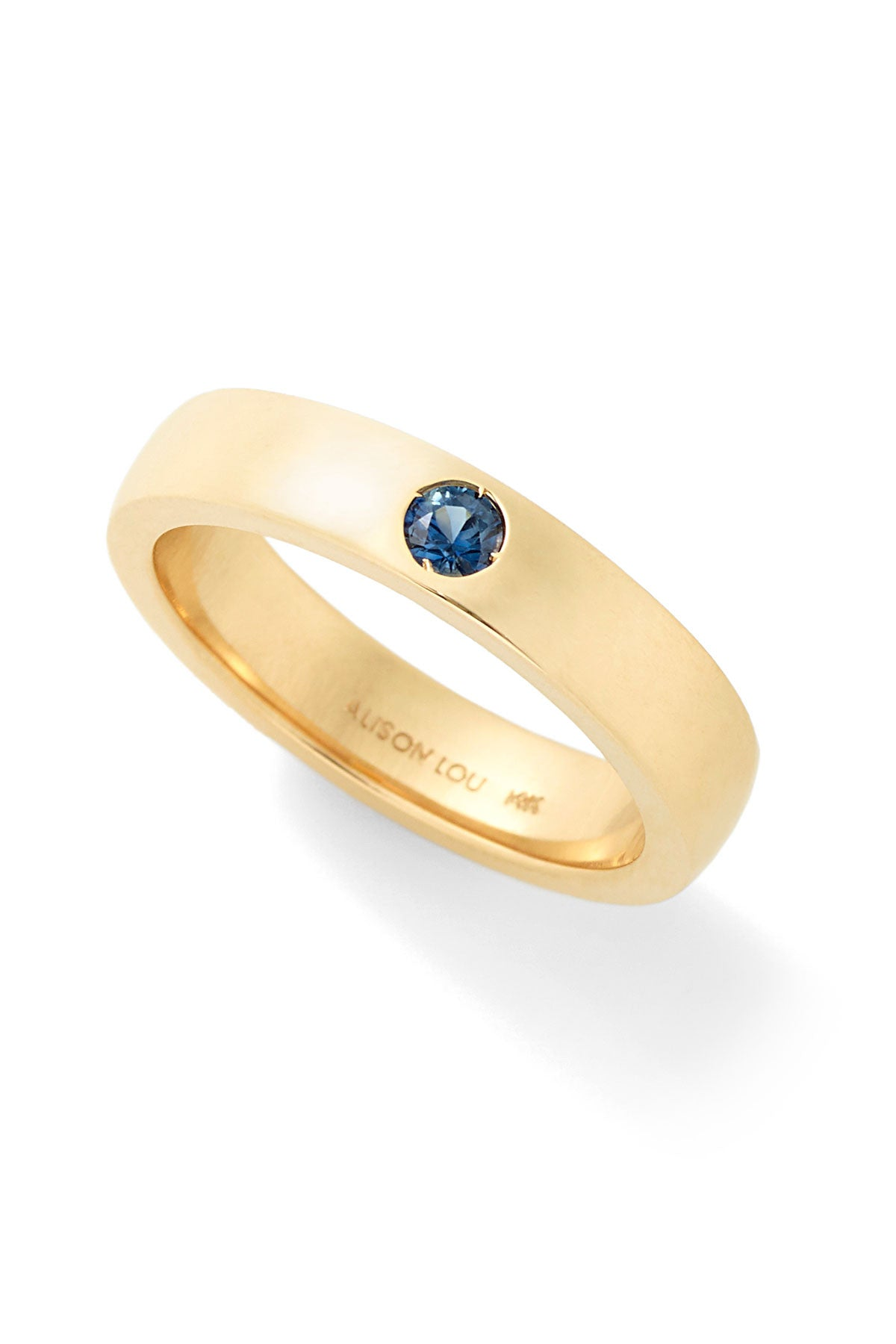 Twister Blue Solitaire Band