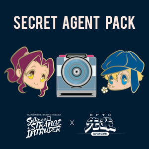 Blossom Detective Holmes Secret Agent Hard Enamel Pin Set