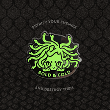 Load image into Gallery viewer, Glow-in-the-Dark Medusa Enamel Pin