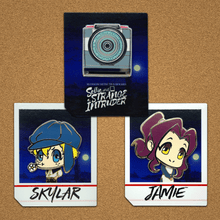 Load image into Gallery viewer, Blossom Detective Holmes Secret Agent Hard Enamel Pin Set