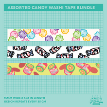 Load image into Gallery viewer, Assorted Candy Washi Tape Bundle