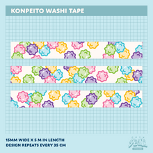 Load image into Gallery viewer, Konpeito Washi Tape