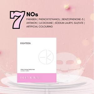 Eighteen Vitaskin Hydrogel Melting Mask
