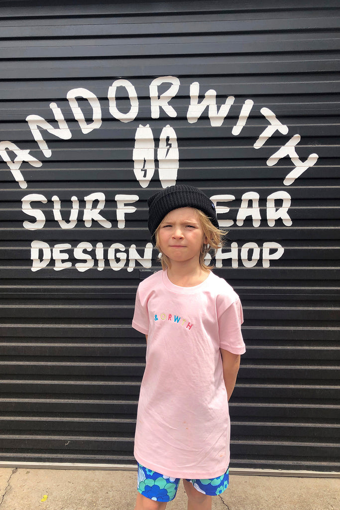 Kids/youth Friends Tee Pink