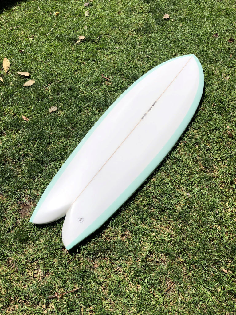"OSS/ANDORWITH 5'5"" Twin Fin Fish Mint"