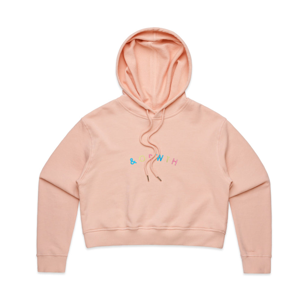 Friends Cropped Hood Pink