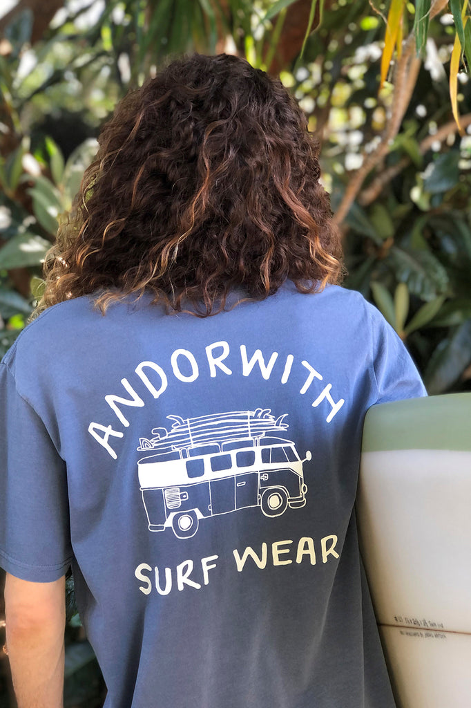 Kombi-Van-Tee-Faded-Blue-andorwith-surf-skate-wear