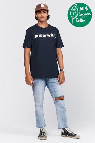 Statement Tee Organic Navy