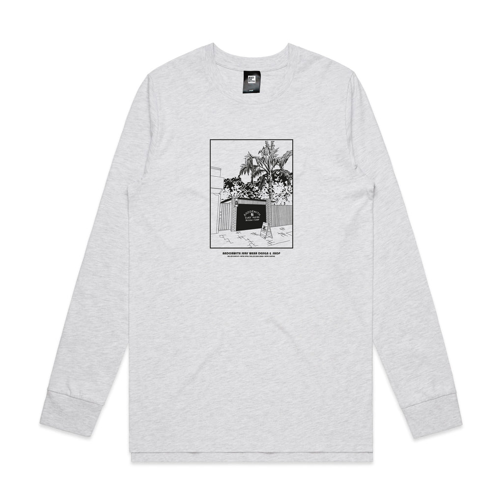 Roller door shop-white marle-Tee-andorwith-surf-skate-wear