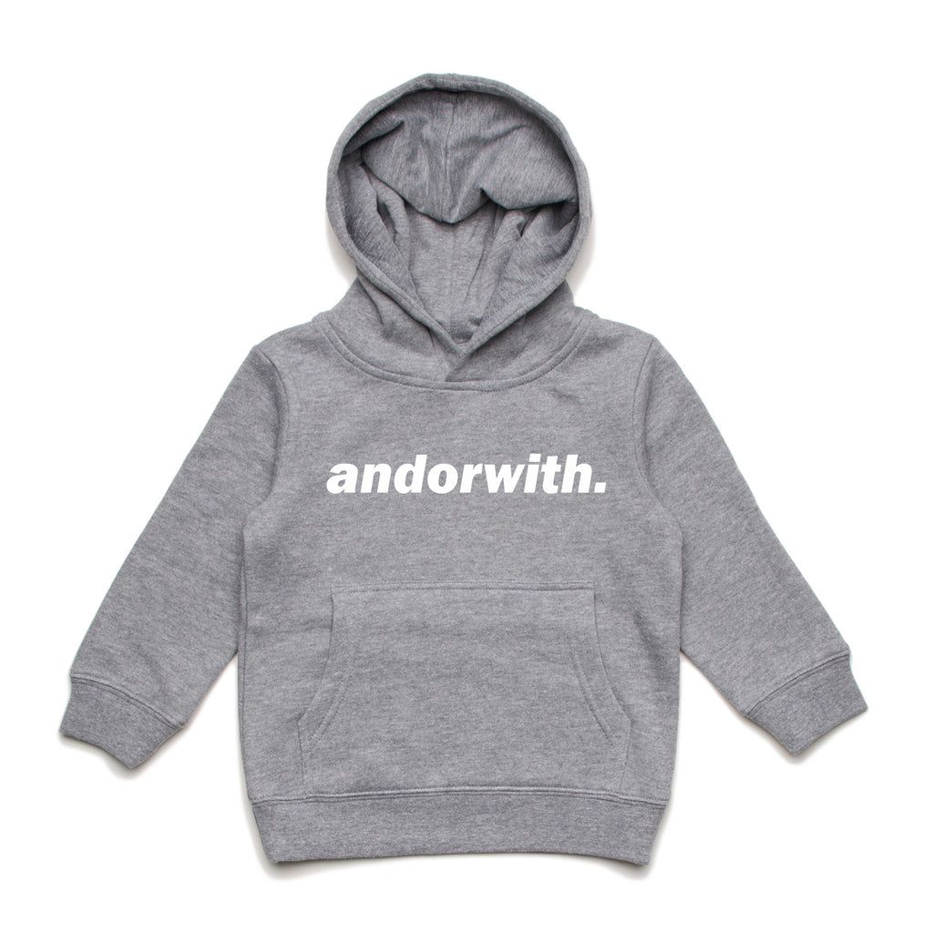 Kids/Youth Statement Hood Heather Grey