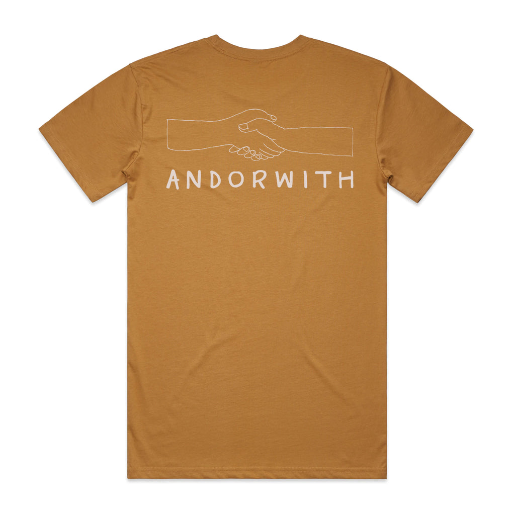 Together-caramel-t-shirt-andorwith-surf-skate-wear